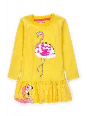 Платье для девочки, декорировано двусторонними пайетками