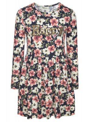 Платье для девочки, отделка-пайетки