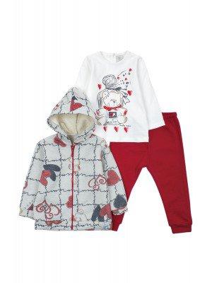 Комплект для девочки: кофточка,штанишки и толстовка