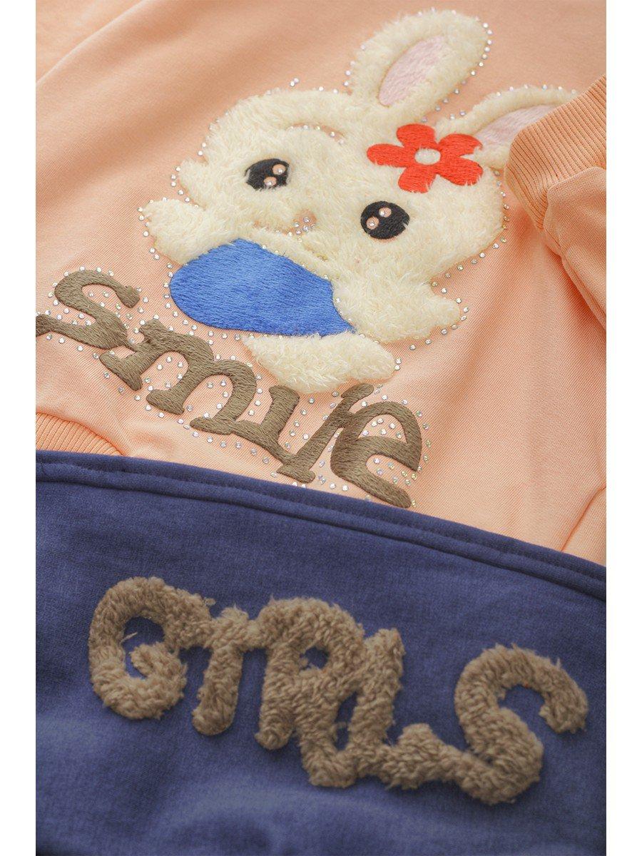 Комплект с начесом для девочки: штанишки и толстовка