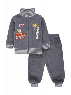 Комплект флисовый для мальчика: толстовка и штанишки