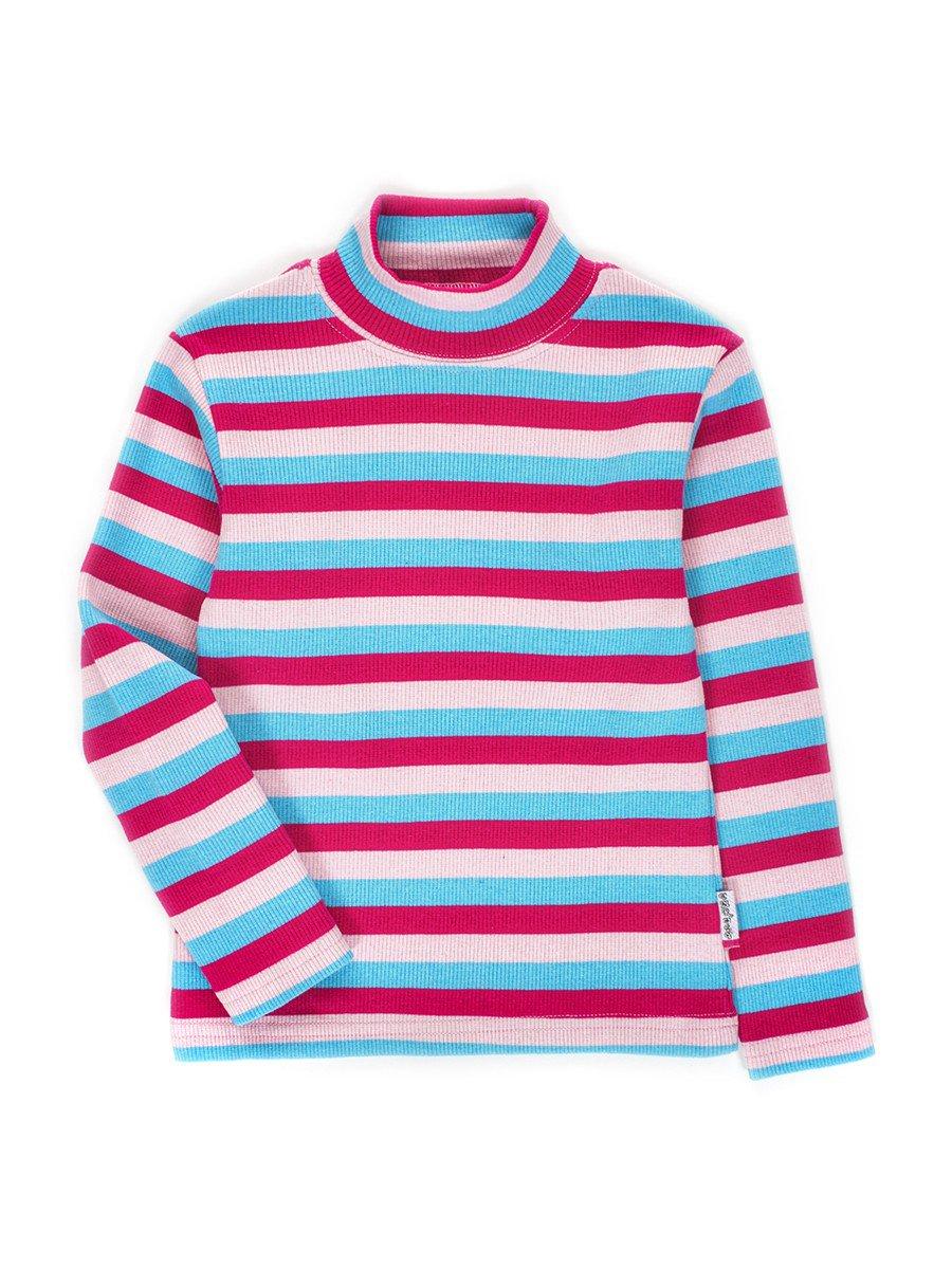 Водолазка с начесом в рубчик для девочки, цвет: розовый