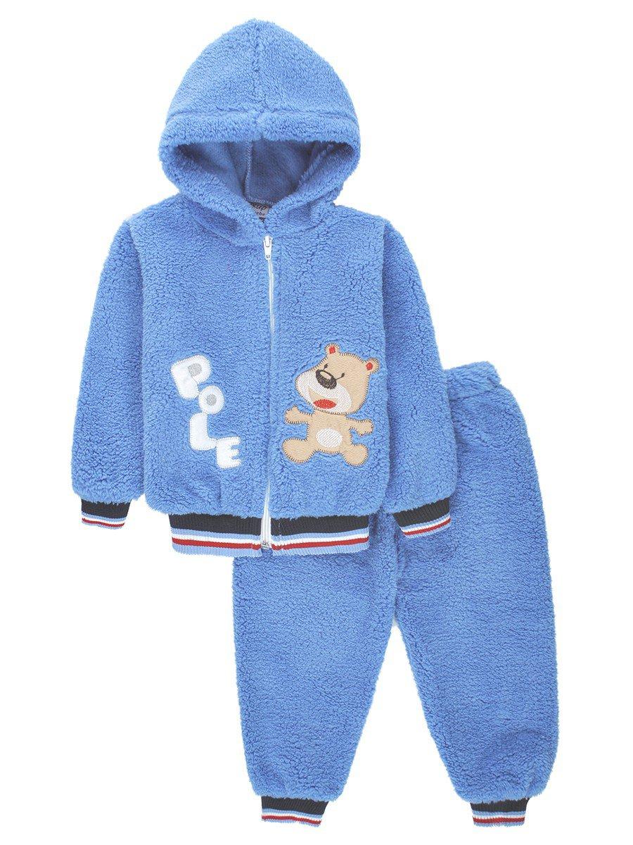 Комплект махровый детский: штанишки и кофточка на молнии