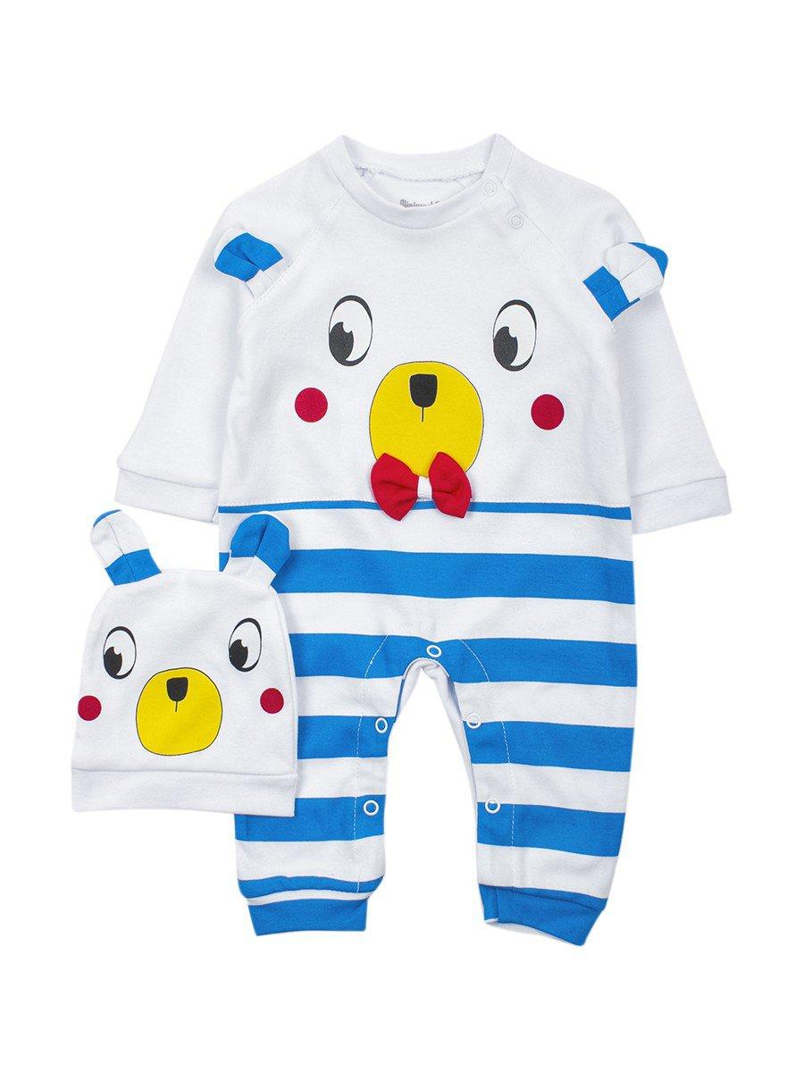 Комбинезон детский в комплекте с шапочкой, цвет: голубой