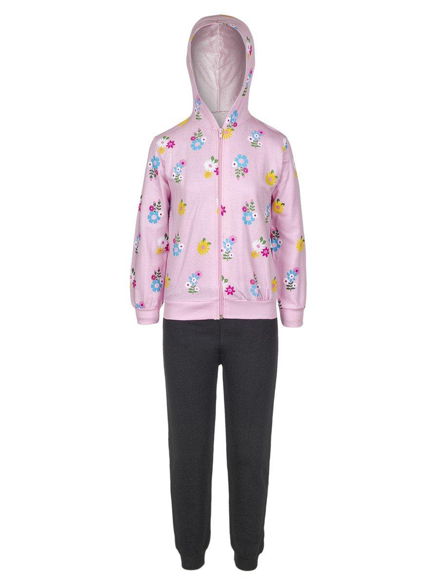 Комплект:толстовка и штанишки, цвет: светло-розовый