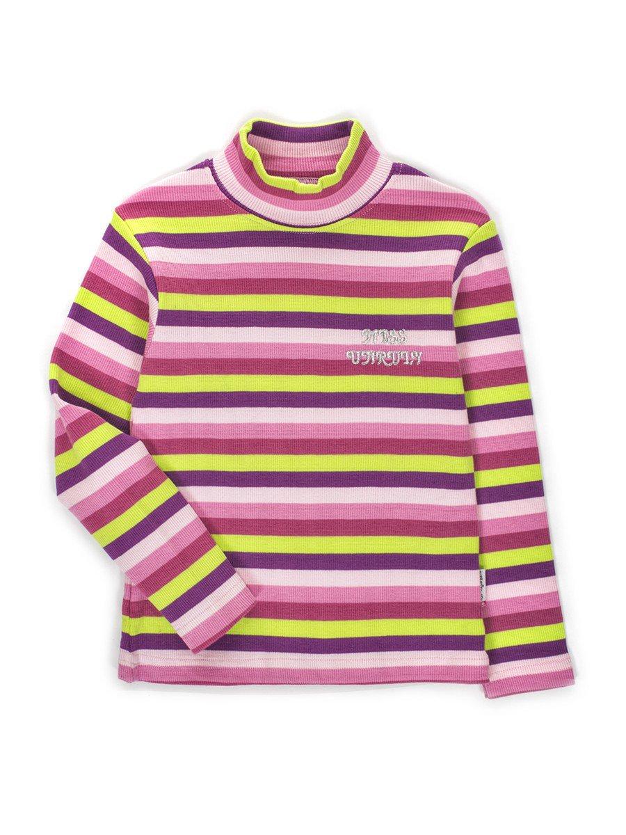 Водолазка в рубчик для девочки, цвет: сиреневый