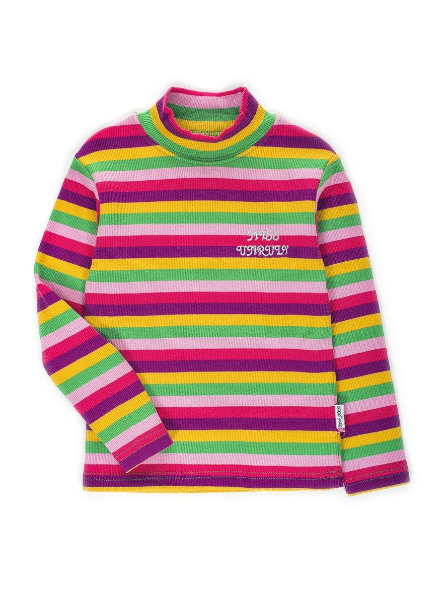 Водолазка в рубчик для девочки, цвет: фиолетовый