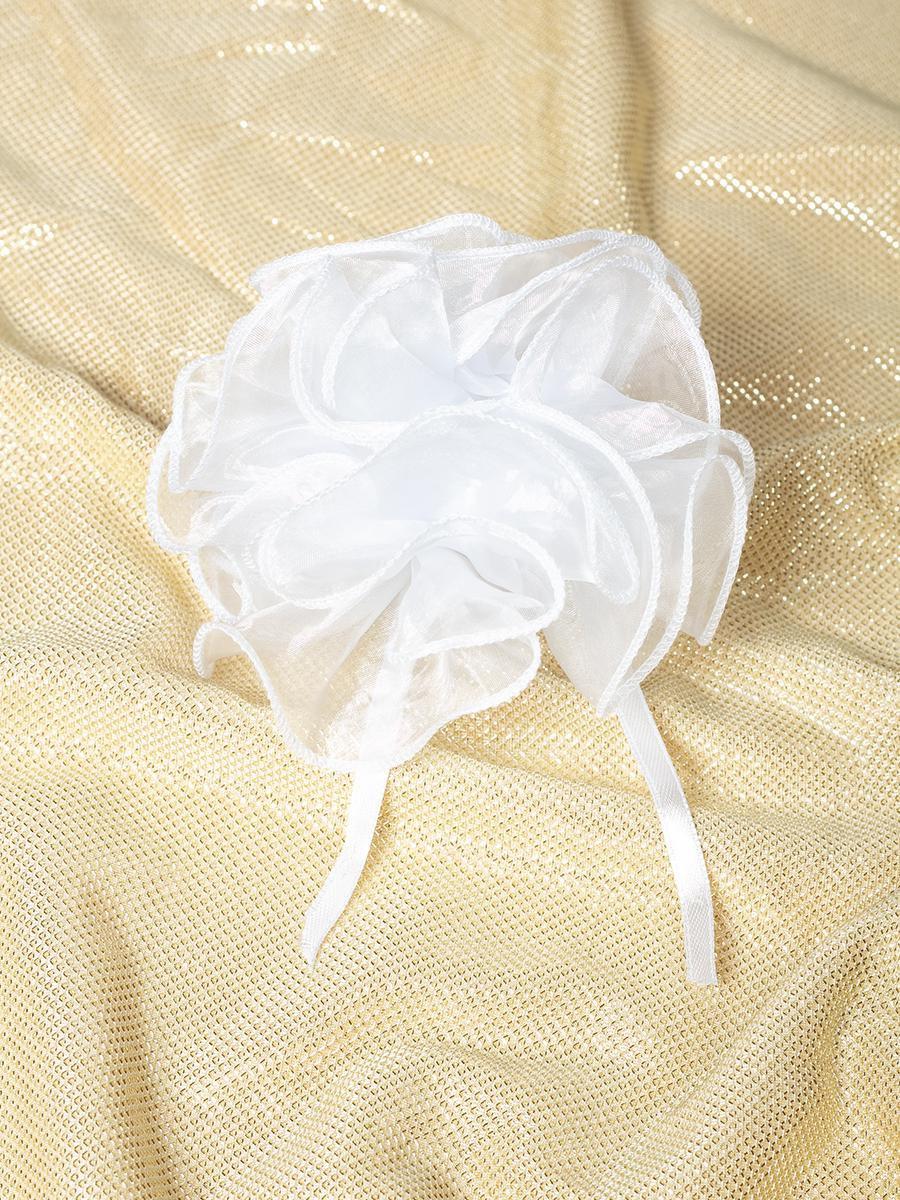 Бант-резинка 8см, цвет: белый