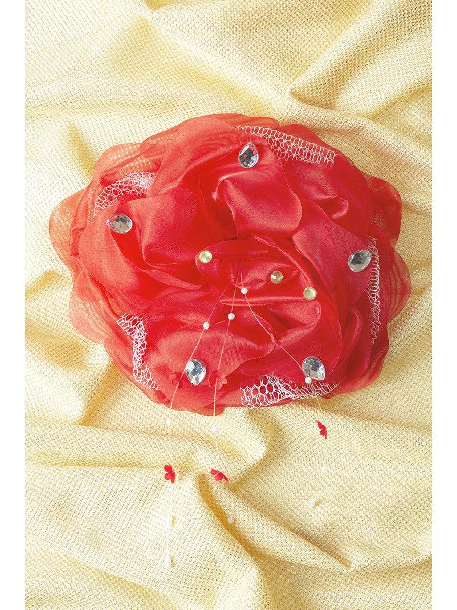 Бант-резинка 18см, цвет: красный