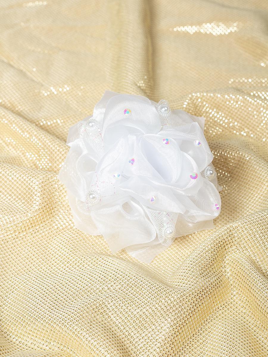 Бант-резинка 18см, цвет: белый