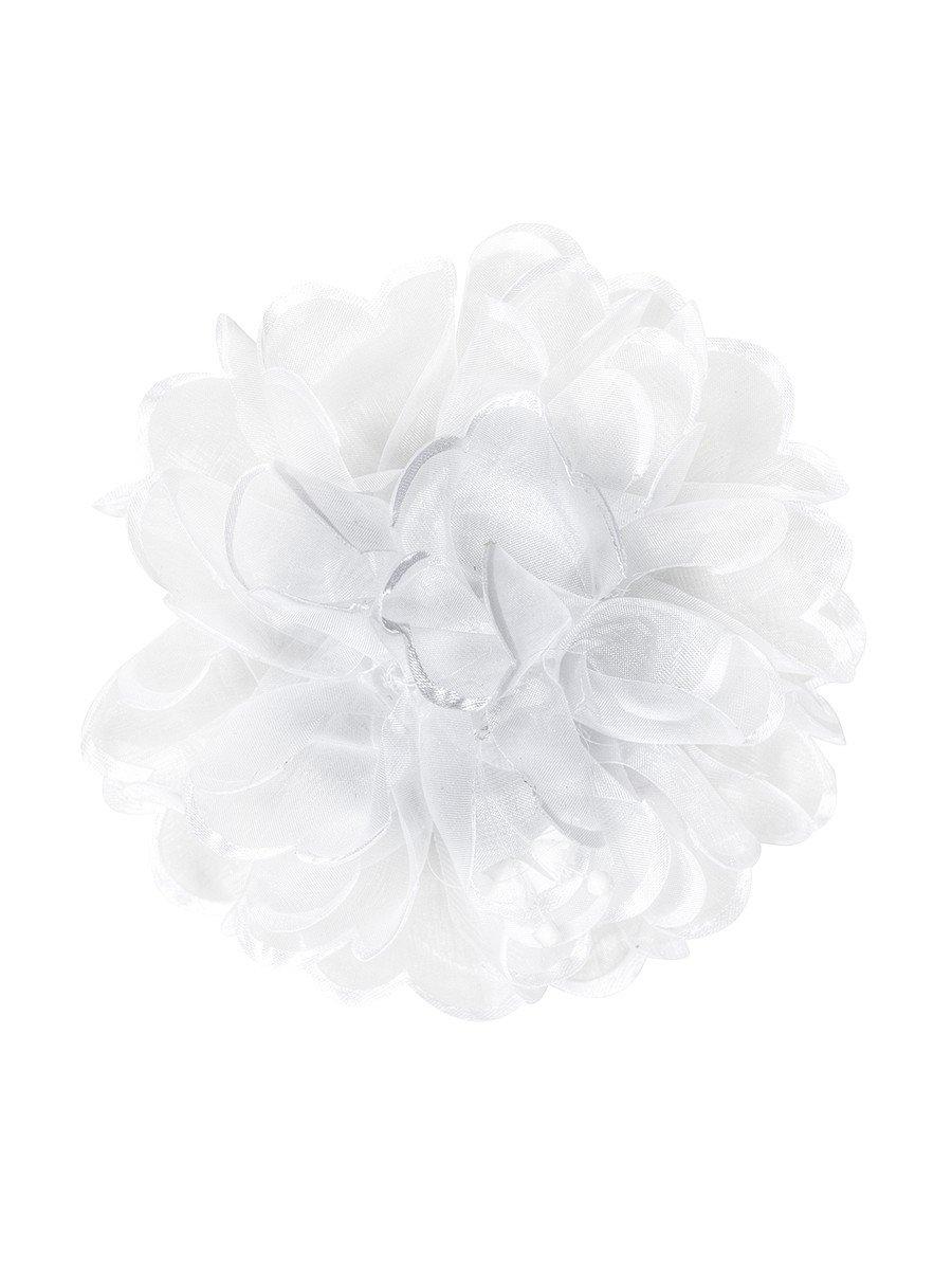 Бант-резинка 10см, цвет: белый