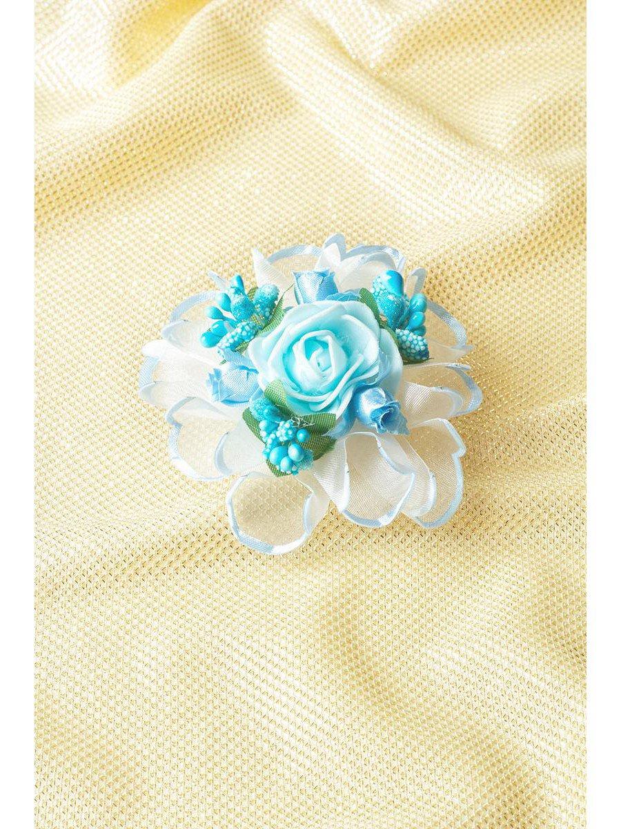 Бант-резинка, цвет: голубой