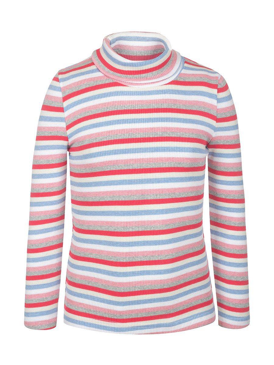 Водолазка в рубчик детская, цвет: голубой