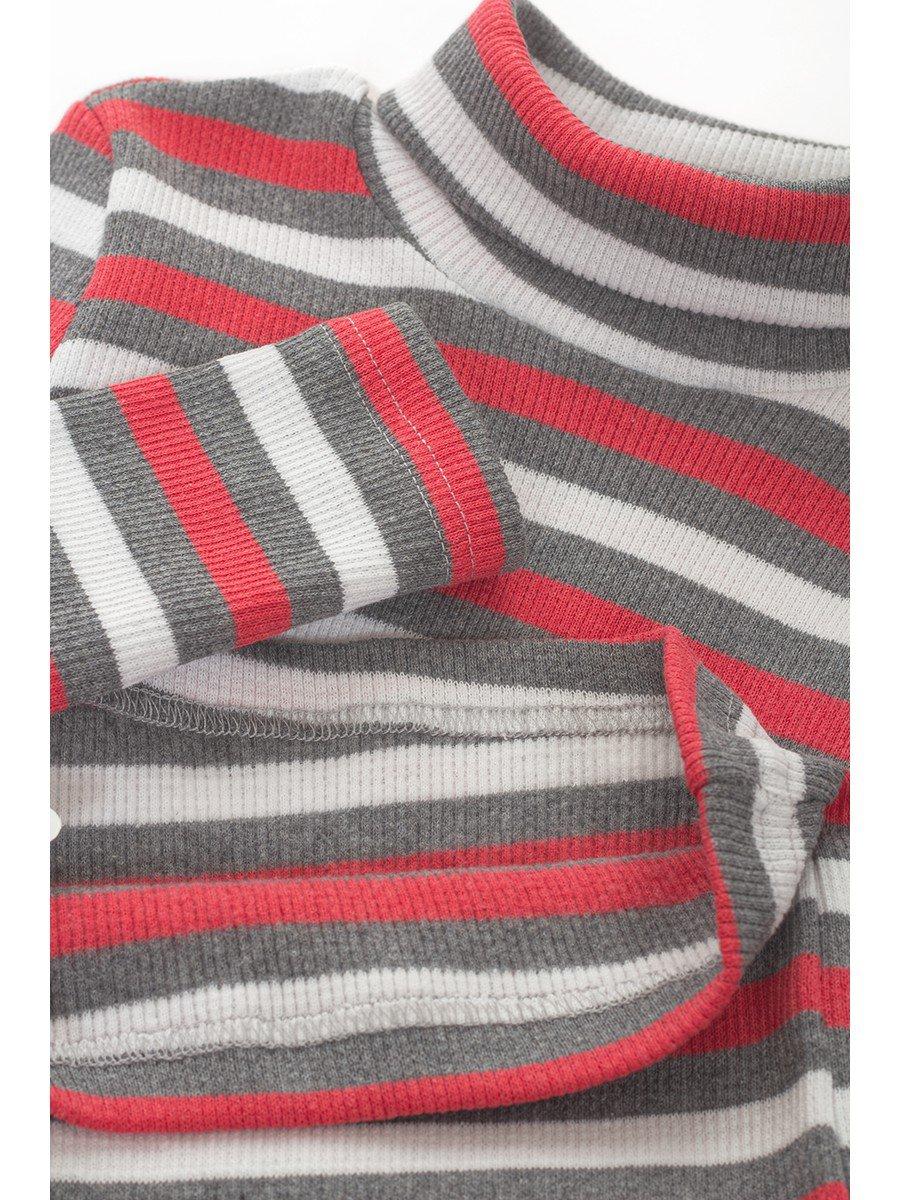 Водолазка в рубчик детская, цвет: серый