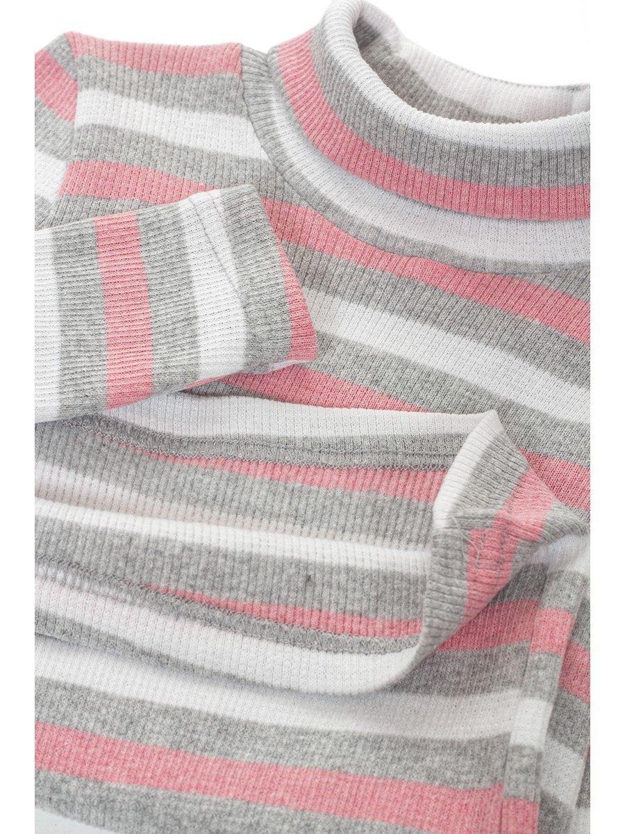 Водолазка в рубчик детская, цвет: розовый