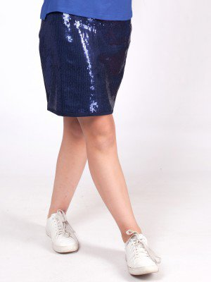 Юбка прямого силуэта с пайетками