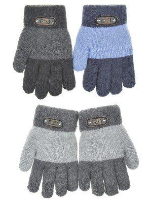 Перчатки для мальчика двойная вязка