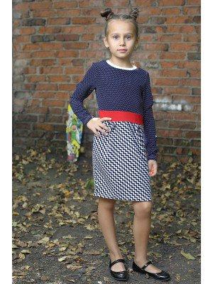 Платье из трикотажного полотна джерси