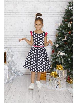 Платье винтажное нарядное с ремешком