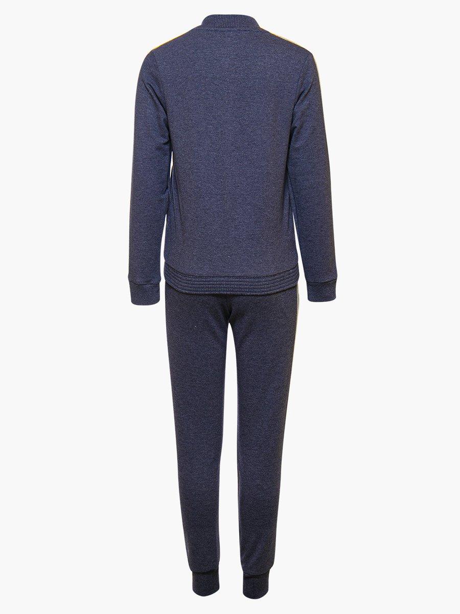 Костюм спортивный:толстовка и брюки зауженные на манжете, цвет: темно-синий