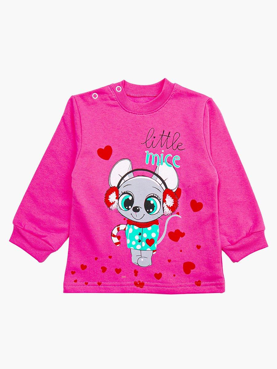 Кофточка с начесом для девочки, цвет: розовый