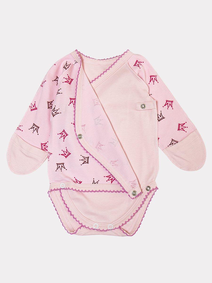 Боди для девочки, цвет: светло-розовый