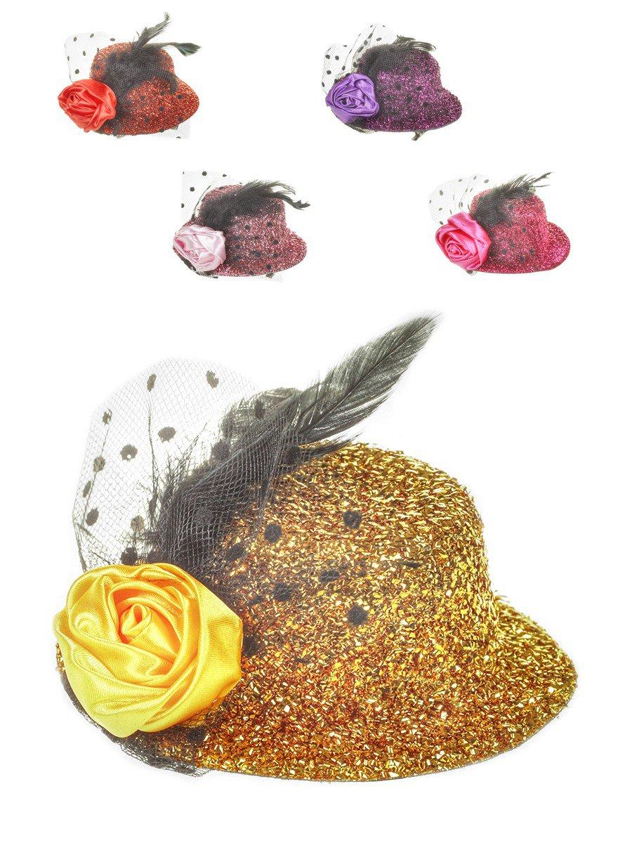 Зажим «Шляпка» 13см, цвет: мультиколор