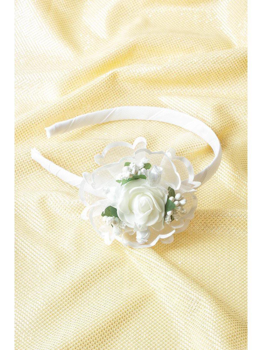 Ободок «Праздничный», цвет: белый