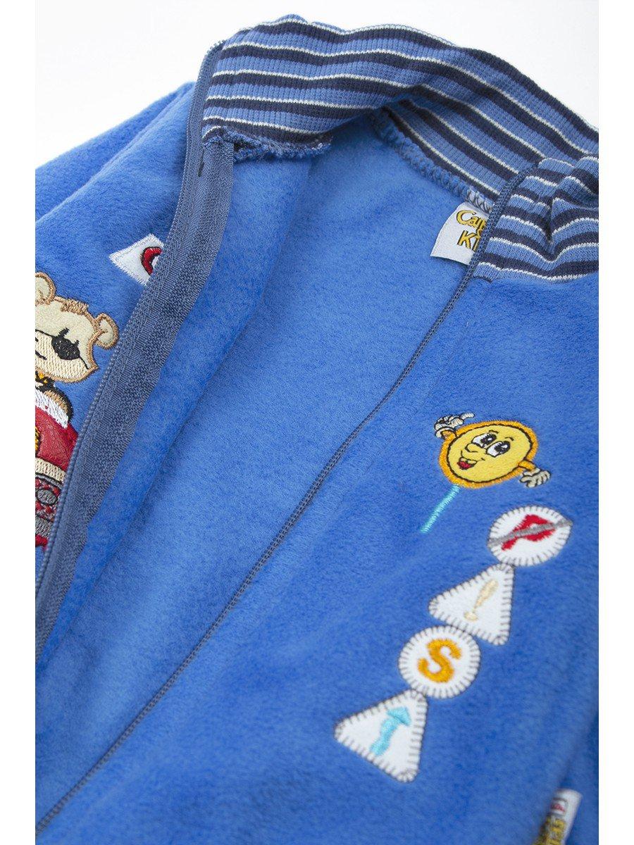 Комплект флисовый для мальчика, цвет: синий