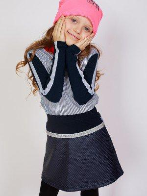 Юбка А-силуэта с широким поясом для девочки