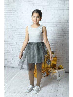 Платье с юбкой сетка