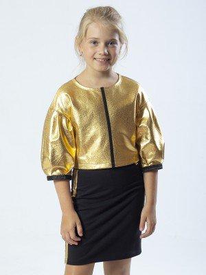 Комплект: свитшот укороченный и юбка прямого силуэта