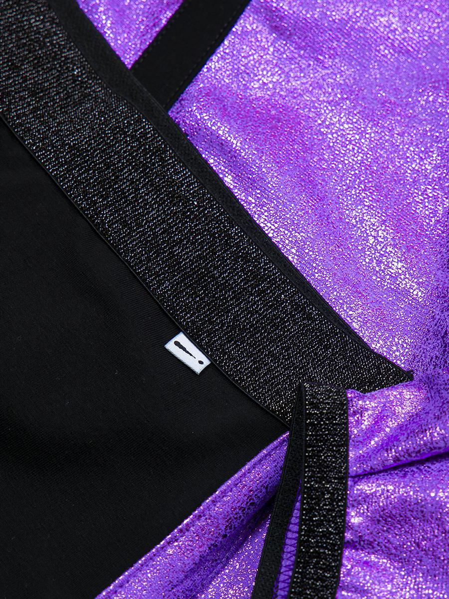 Комплект:свитшот укороченный и юбка прямого силуэта, цвет: фиолетовый