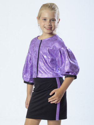Комплект:свитшот укороченный и юбка прямого силуэта