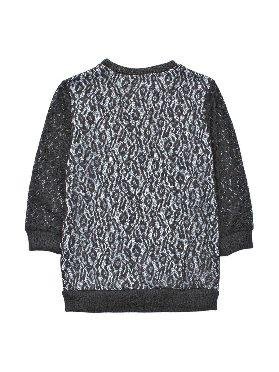 Блузка нарядная из гипюра, цвет: черный