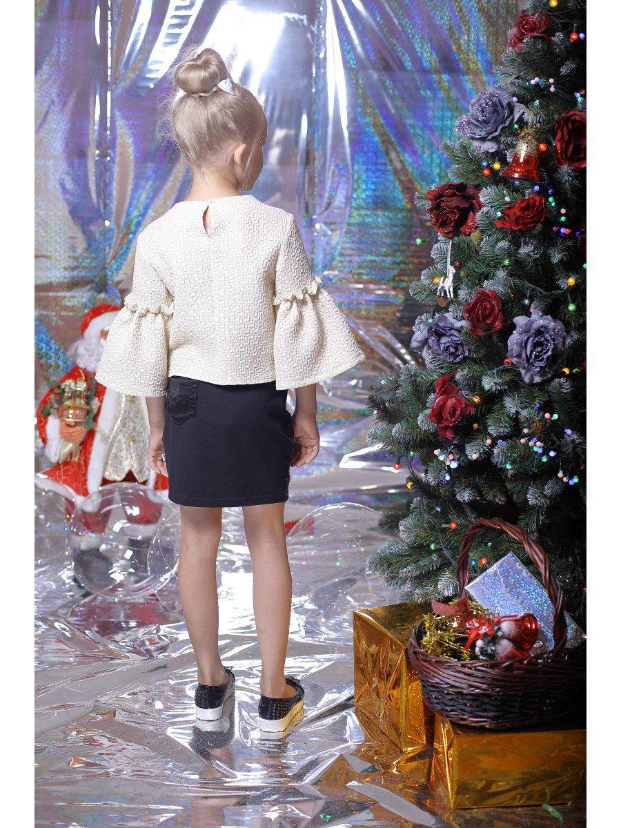 Блузка нарядная из жаккарда, цвет: золотой