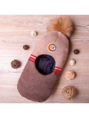 Шапка-шлем на синтепоне для мальчика