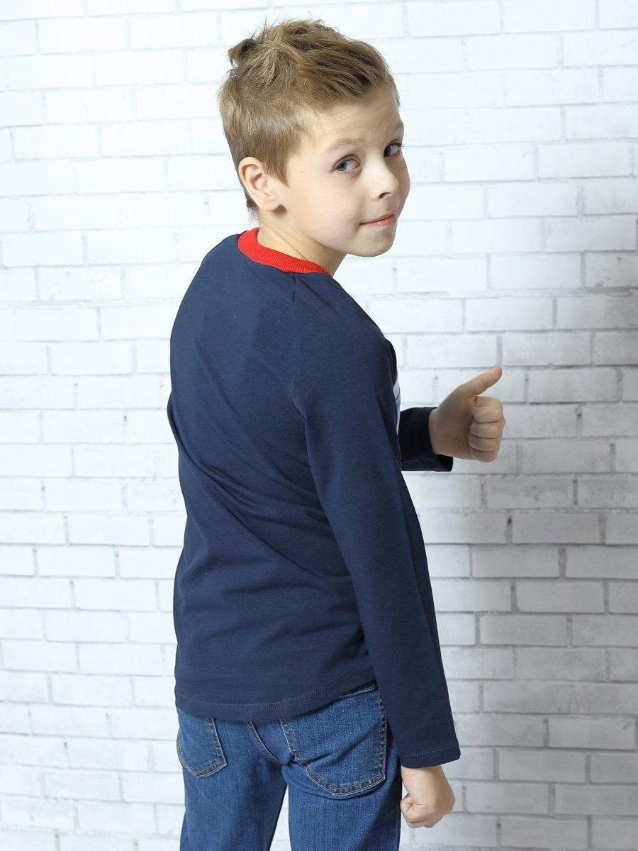 Лонгслив для мальчика, цвет: голубой