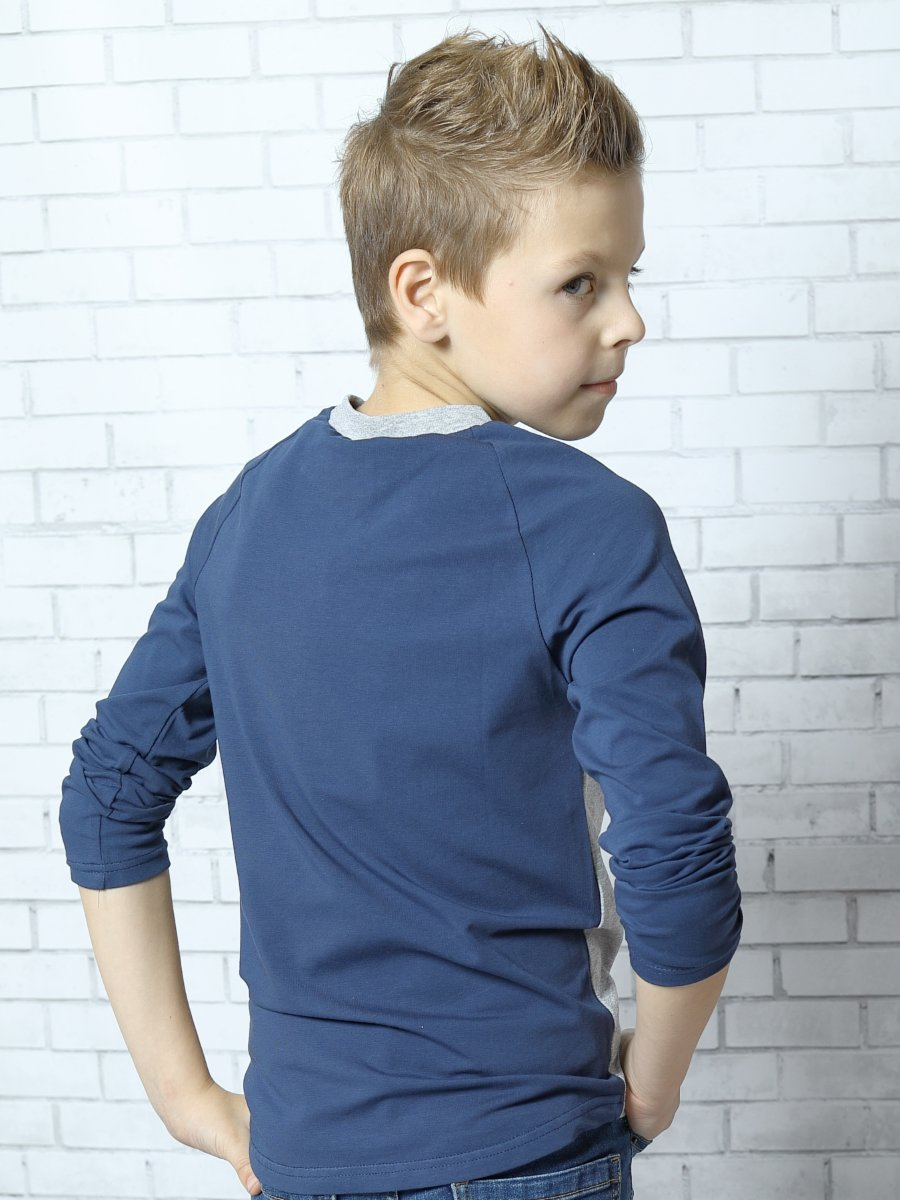 Лонгслив для мальчика, цвет: серый