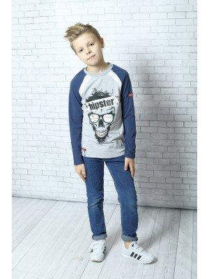 Лонгслив (футболка с длинными рукавами) из кулирки с лайкрой