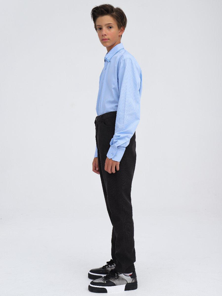Брюки чиносы со средней посадкой для мальчика, цвет: черный