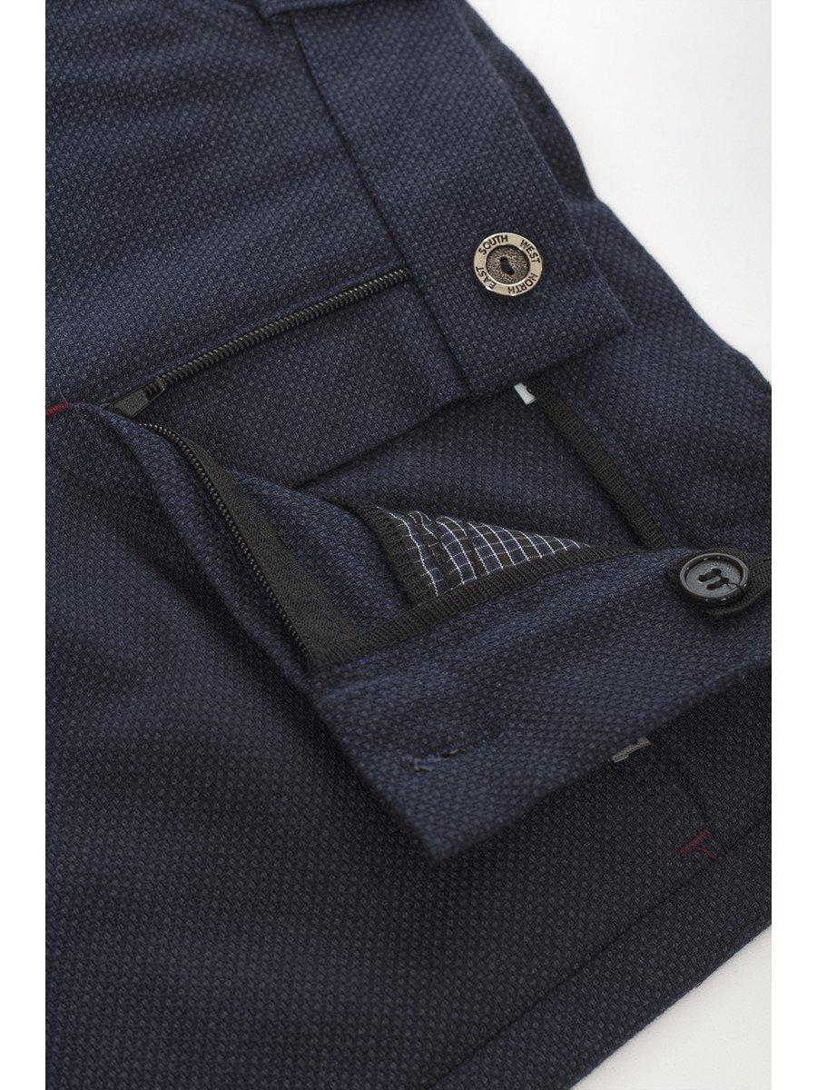 Брюки текстильные для мальчика, цвет: темно-синий