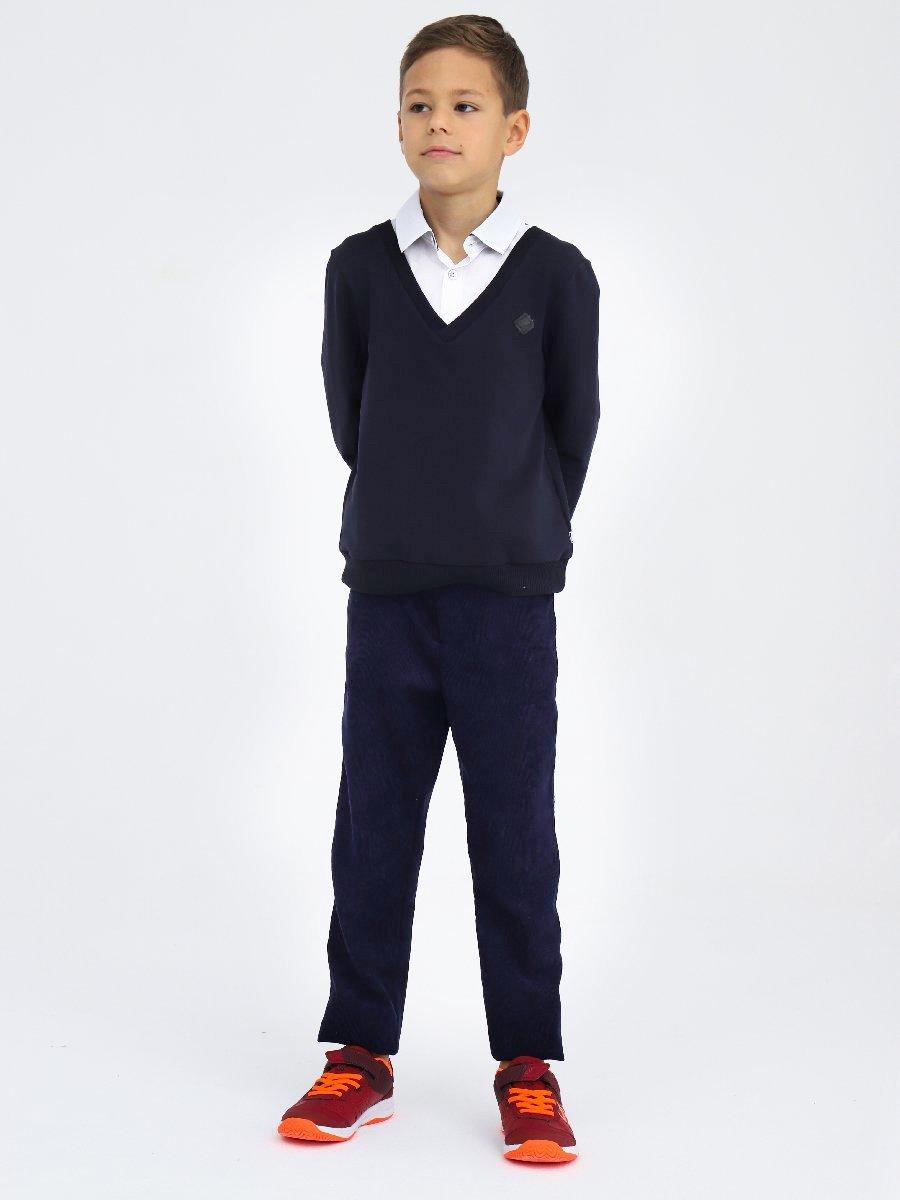 Брюки чиносы со средней посадкой для мальчика, цвет: темно-синий