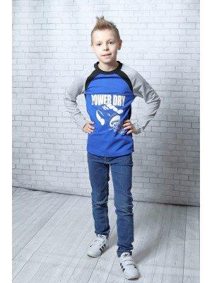 Джемпер (свитшот) для мальчика приталенный из футера 2-х нитки