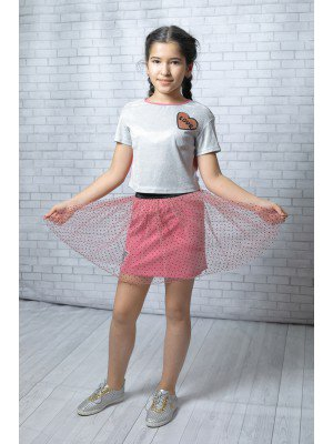 Комплект нарядный из блузы и двойной юбки