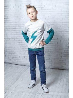Свитшот для мальчика прямой из футера 2-х нитка