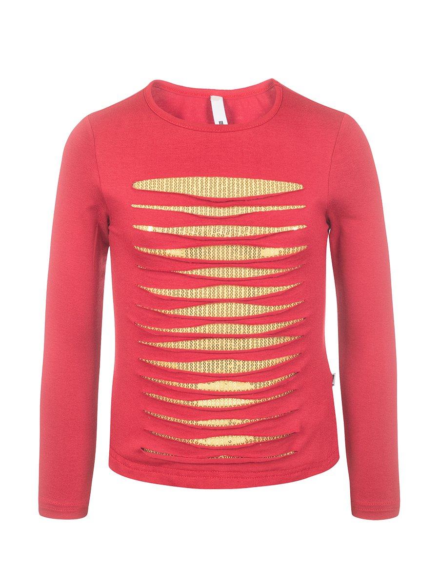 Блуза (Лонгслив) нарядная из вискозы, цвет: красный