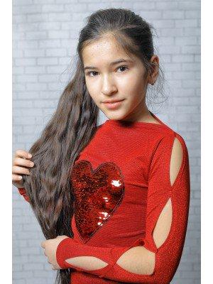 Блуза из трикотажного полотна с метализированной нитью