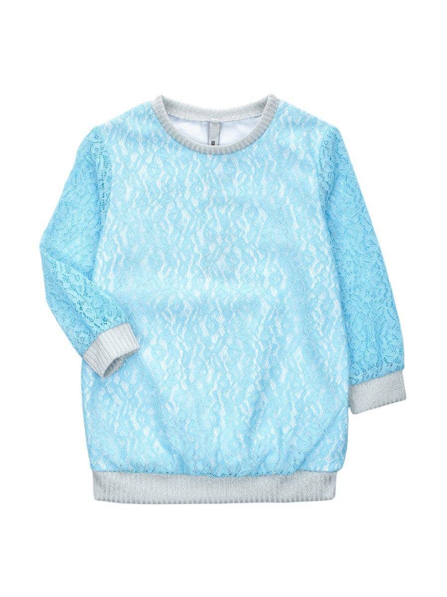 Блузка нарядная из гипюра, цвет: бирюзовый
