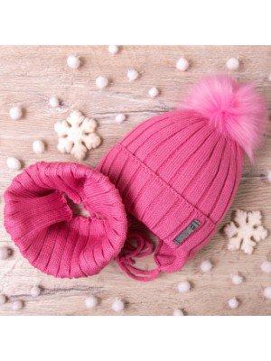 Набор для девочки: шапка на синтепоне и снуд